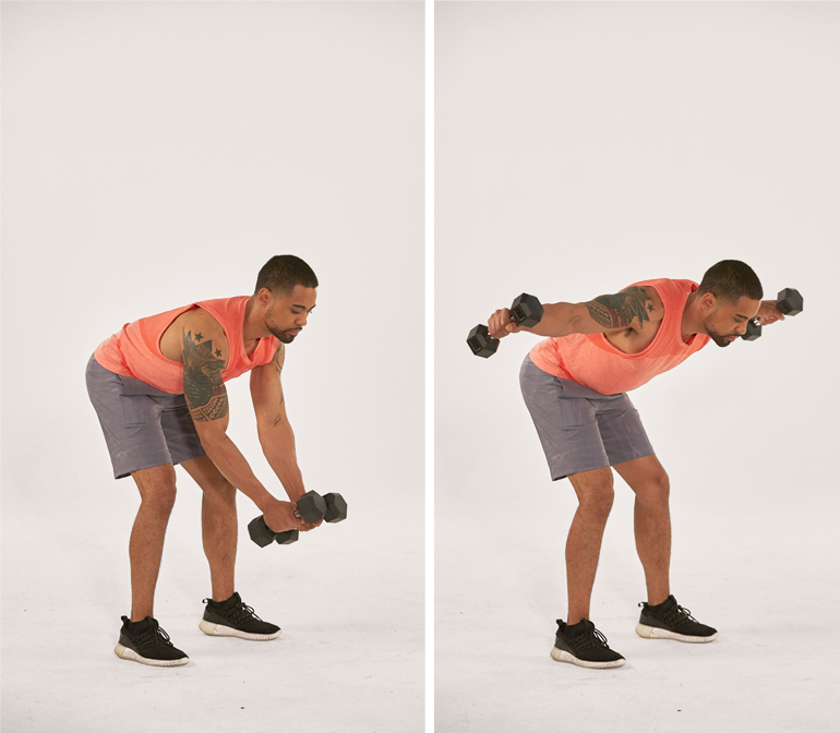 standing reverse fly | bent-over rear delt fly | deltoid exercises