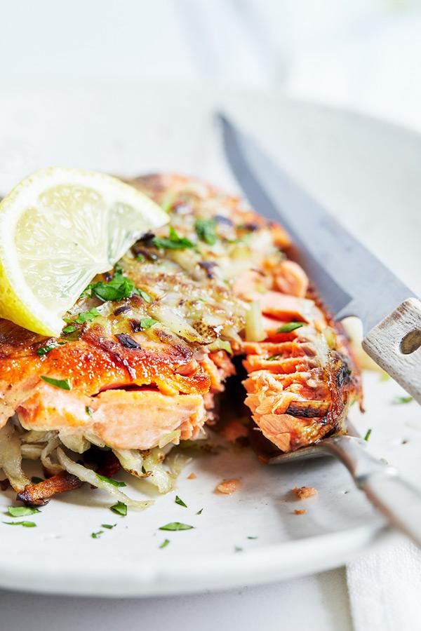 Potato-Crusted Salmon Fillets