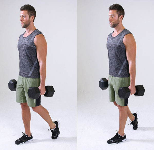 farmers walk exercise - forearm workouts