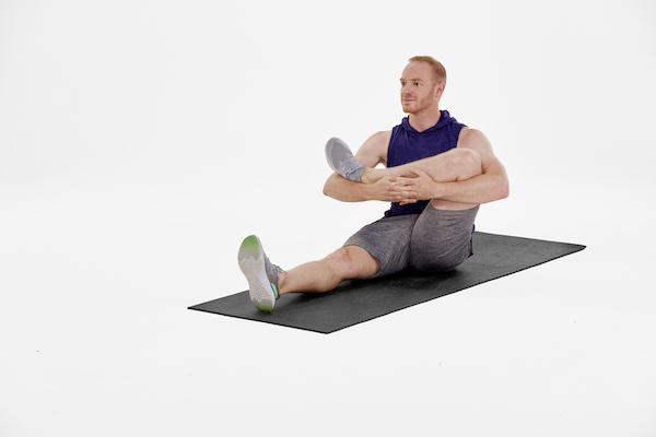hip stretches- seated leg cradle