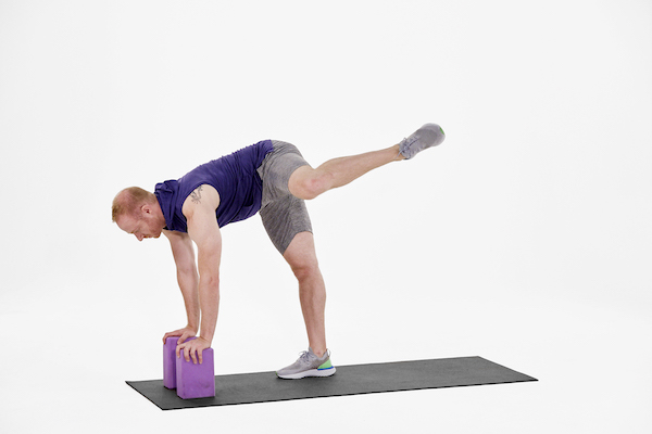hip stretches- standing butterfly lift