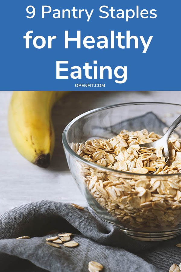 healthy pantry staples - pin image