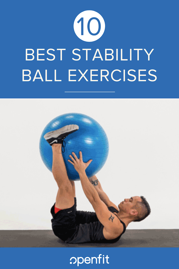 stability ball workouts pin