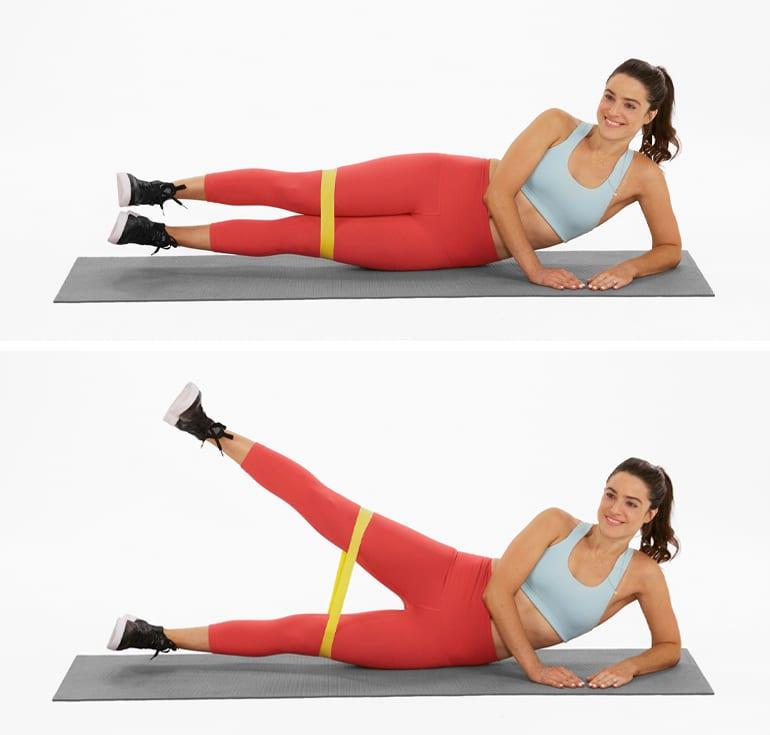 hip workouts exercises | side lying leg raise