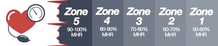 heart rate scale zones