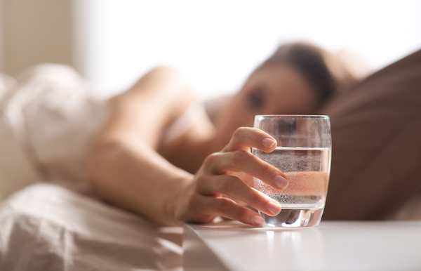 food choices sleep deprived - drink water