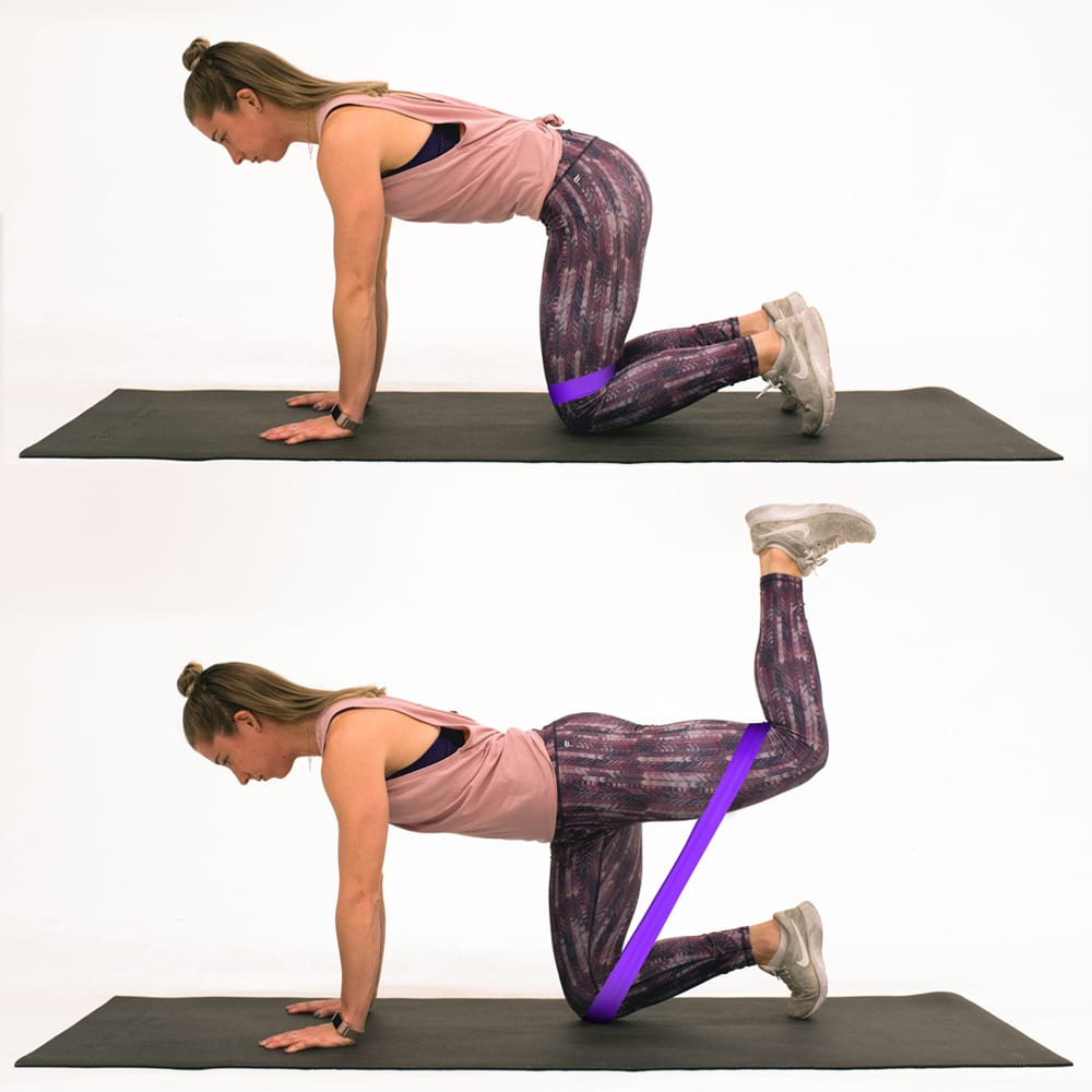 Quadruped Hip Extension woman bigger butt workouts