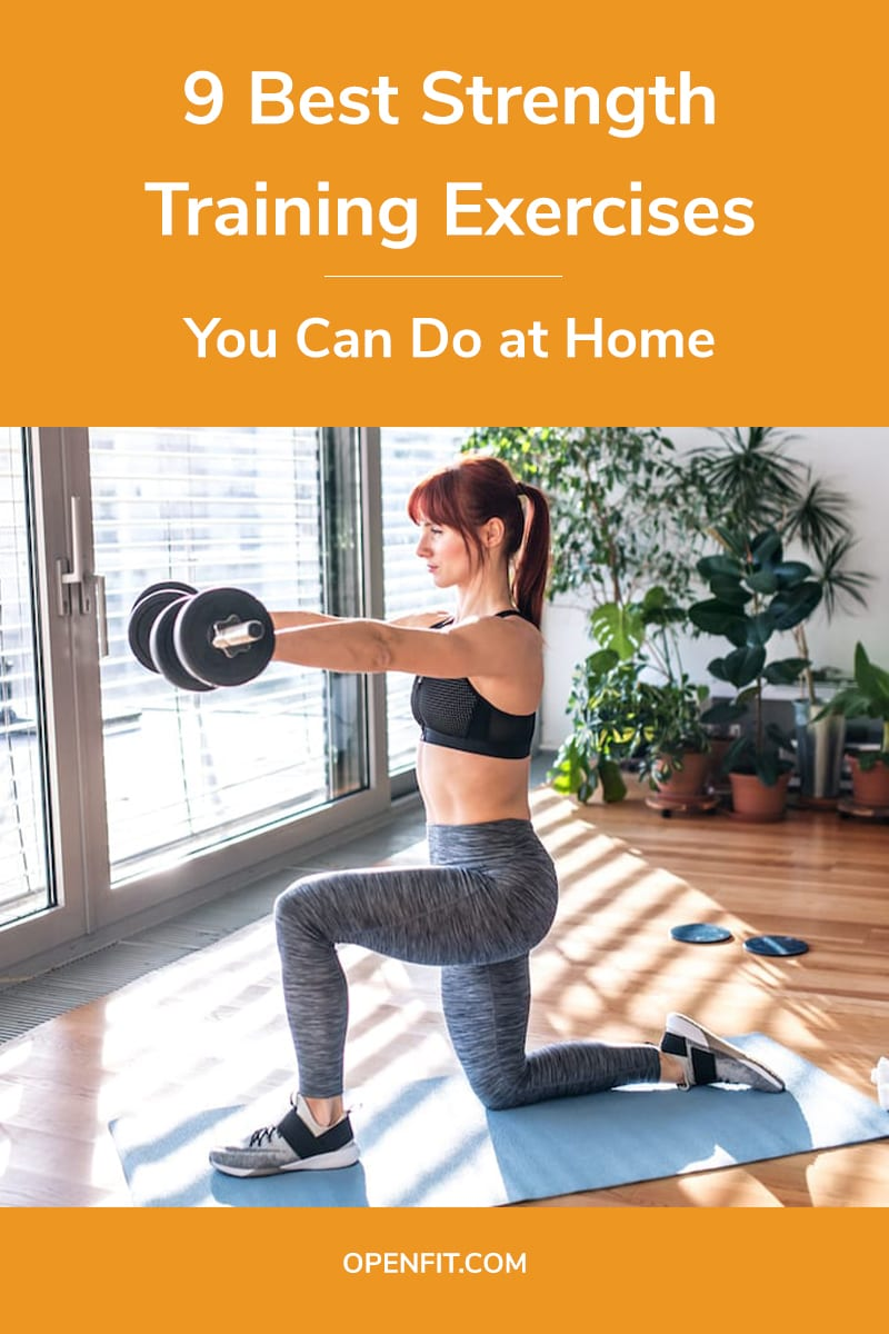strength training at home pin image