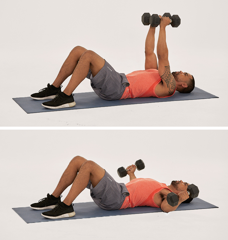 floor chest fly | upper body workout