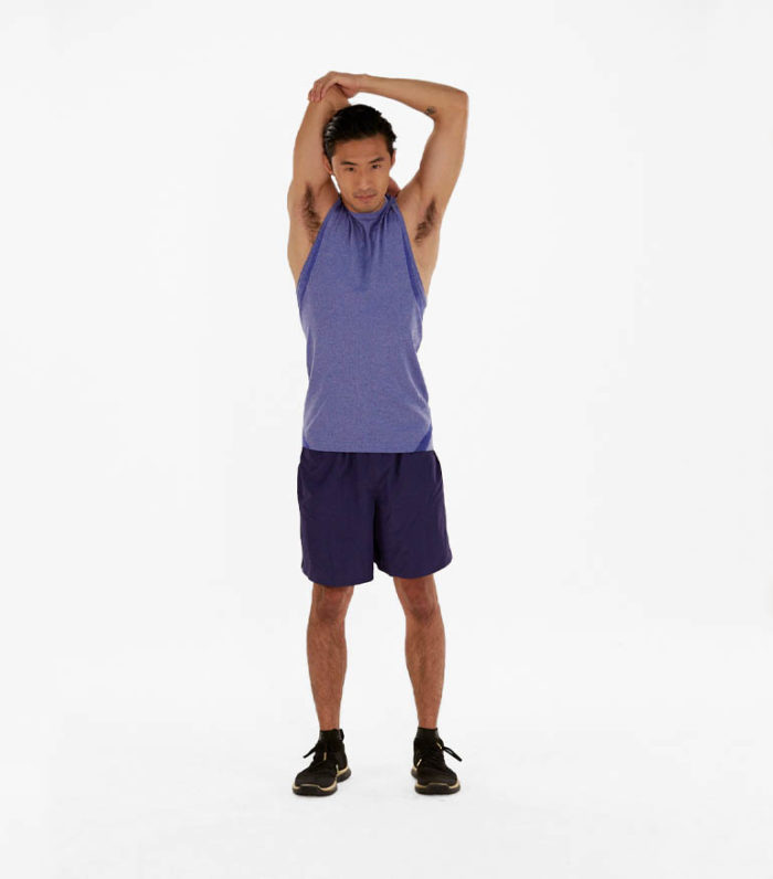 tricep stretches-behind head tricep stretch