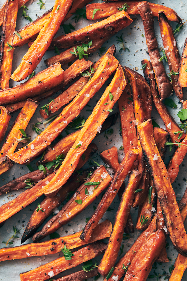 how to cook sweet potatoes- fries