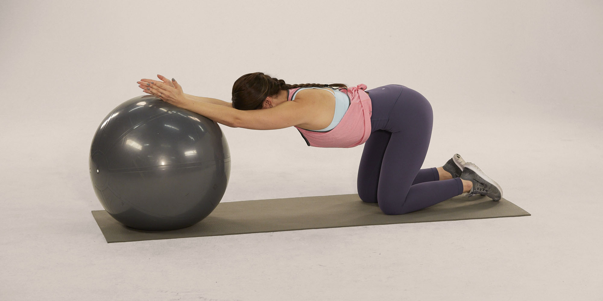 Back Stretches- stability ball lat stretch
