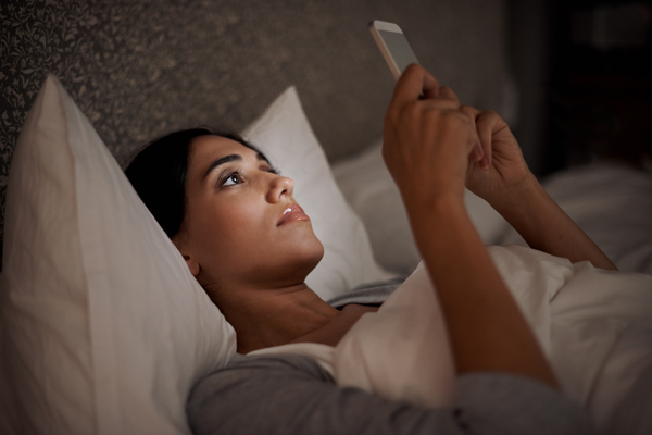 phone in bed