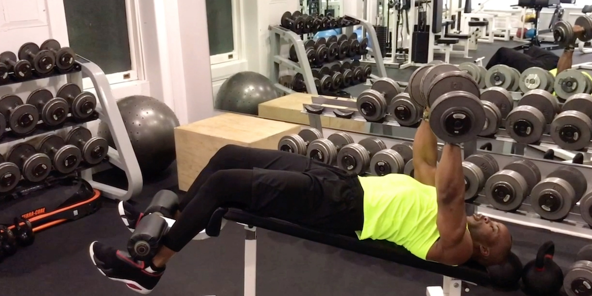 Groovy How To Properly Perform The Decline Chest Press Openfit Beatyapartments Chair Design Images Beatyapartmentscom