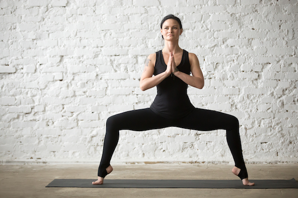 goddess pose- more difficult