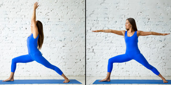 How to Do Yoga Warrior 1 and Warrior 2 With Proper Form