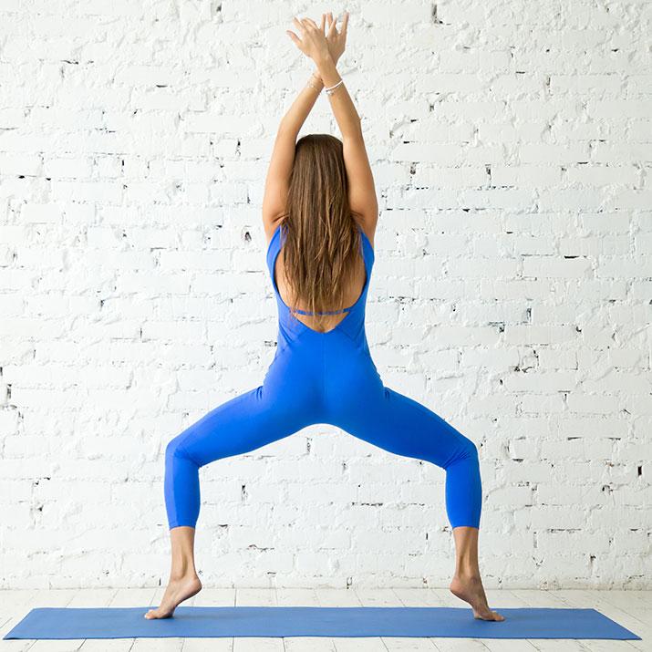 morning yoga flow - goddess pose