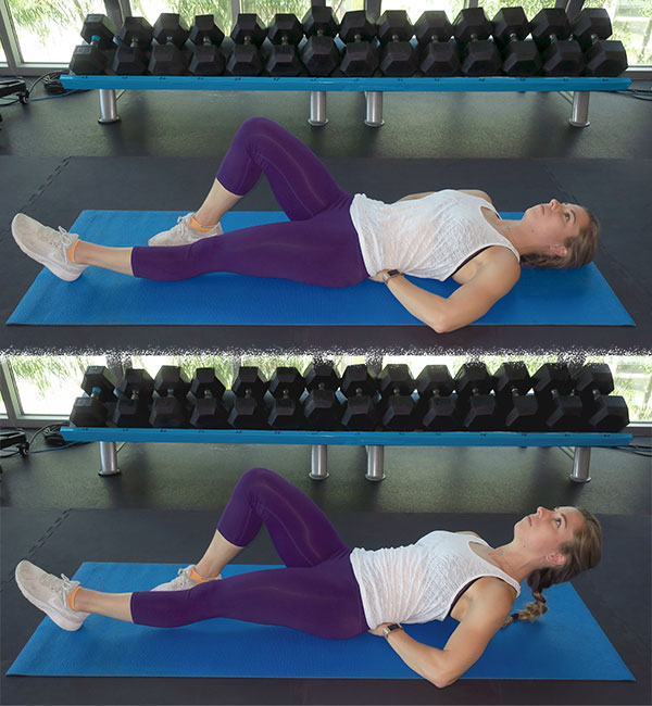 woman | mcgill curl-up | sit-ups vs. crunches