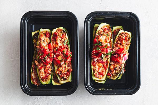 Turkey Zucchini Boats