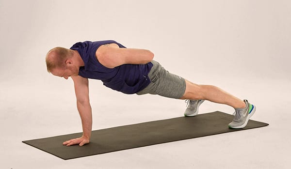 Super exercises - single arm plank