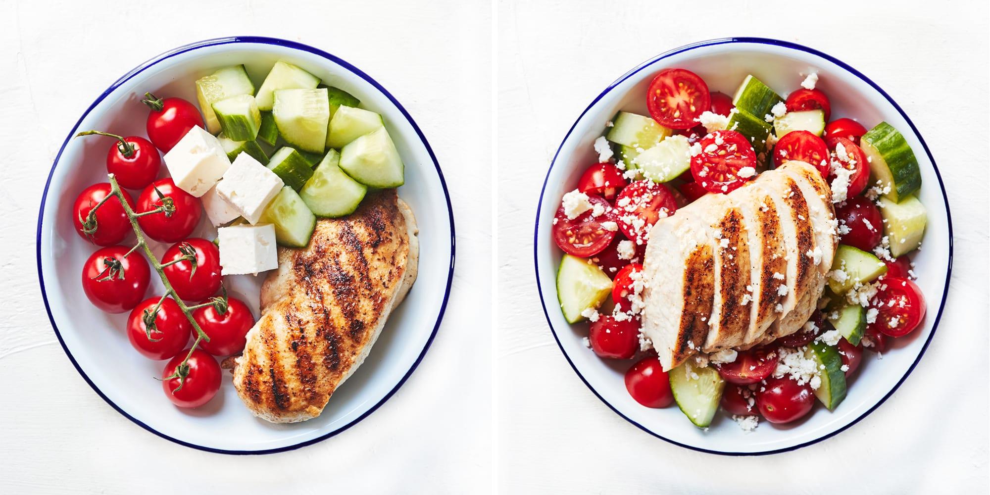 4-Ingredient Greek Chicken Bowls