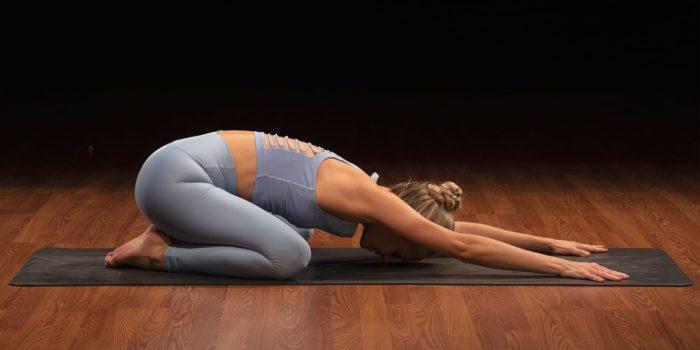 108 sun salutations- child's pose balasana Yoga52 Marie Grujicic Delage