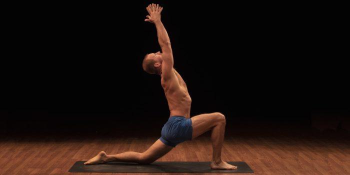 leg workout at home - Anjaneyasana Low Crescent Lunge Yoga52 Brent Laffoon