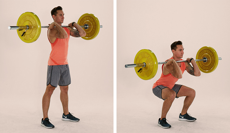 barbell front squat man