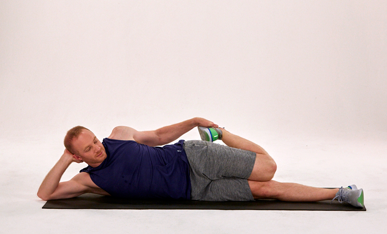 Lying side quad stretch