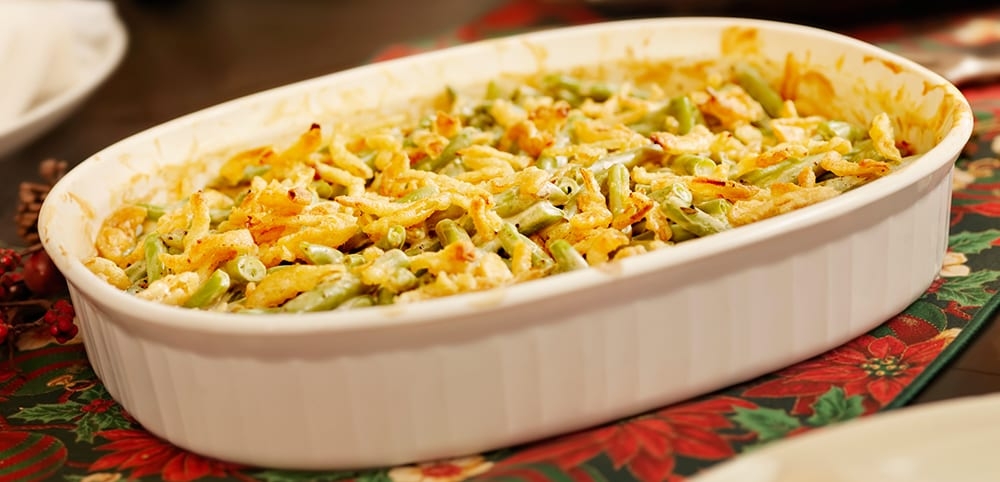 green bean casserole thanksgiving food