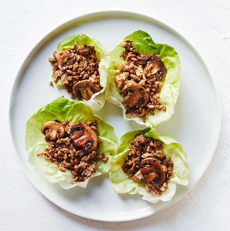 sugar free 3 recipes- Ground Turkey Lettuce Wraps