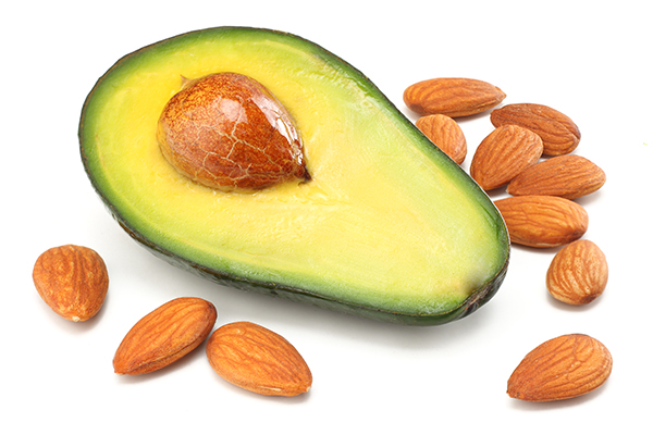 foods to fight fatigue - avocado and almonds