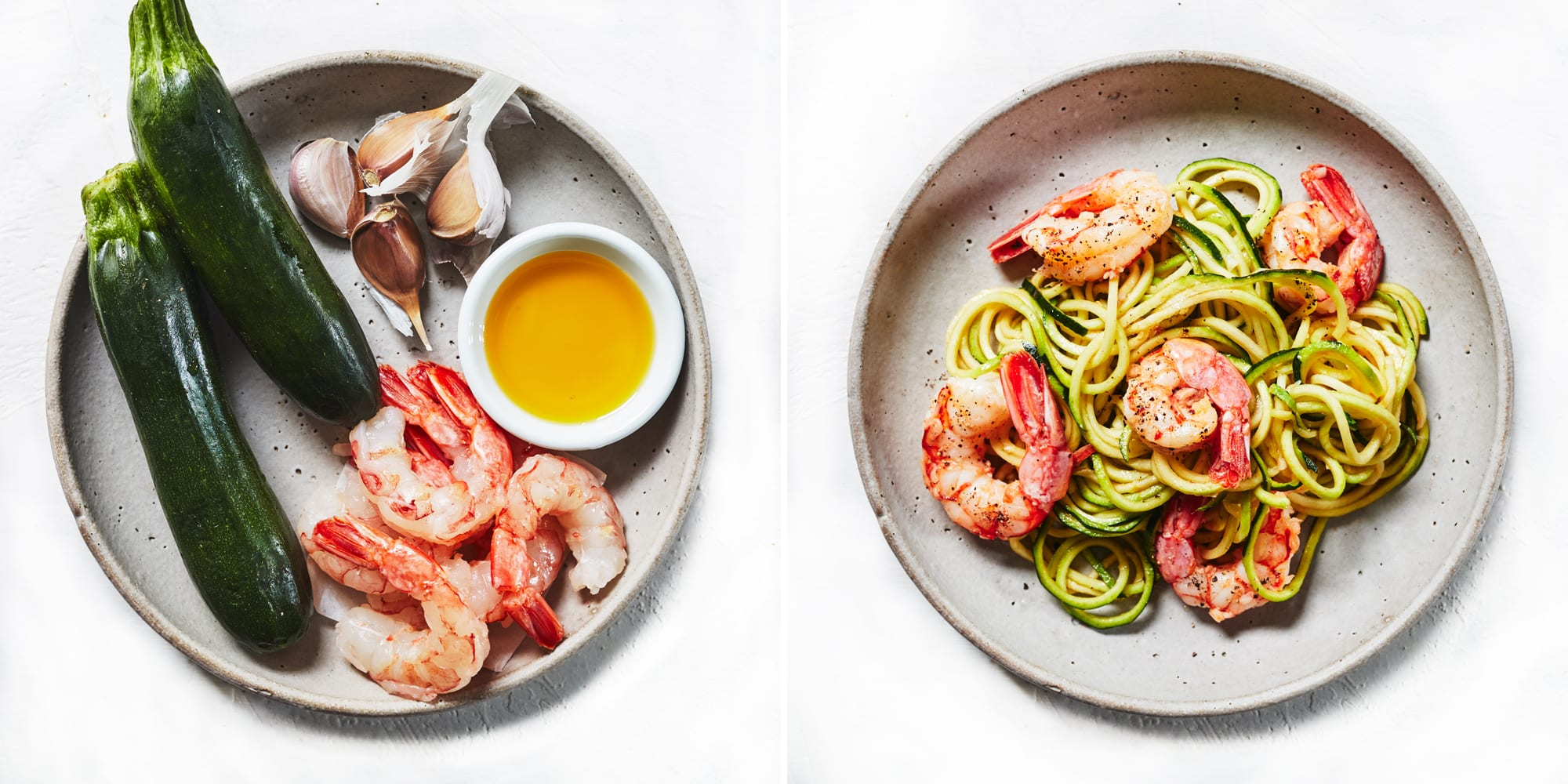 4-Ingredient Garlic Shrimp With Zucchini Noodles