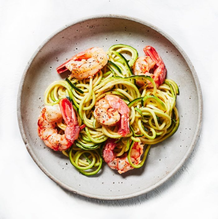 Garlic Shrimp Pasta with Zucchini Noodles
