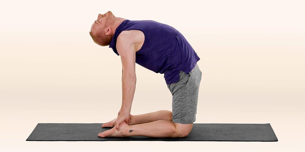 camel pose yoga ustrasana man