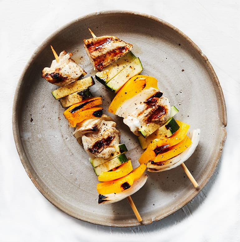 Veggie and Chicken Kabobs Recipe