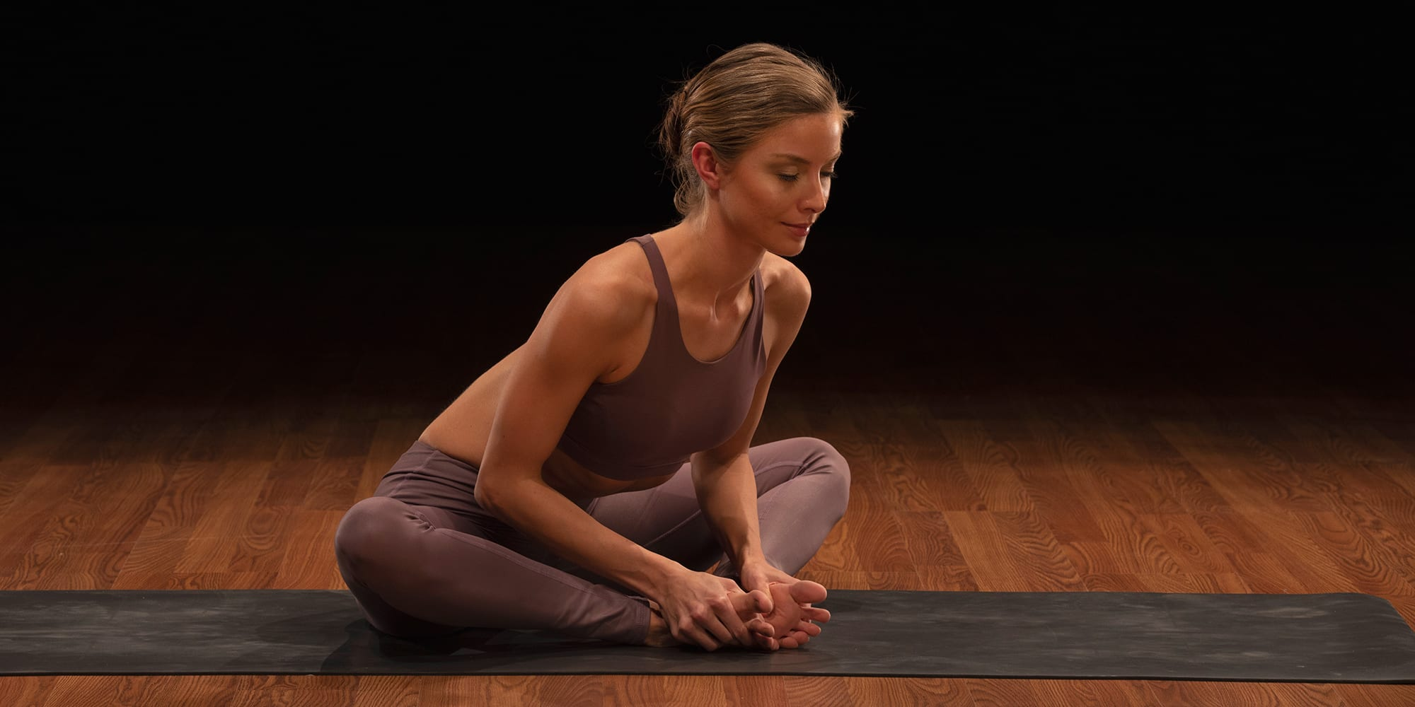 hip stretches- bound angle pose