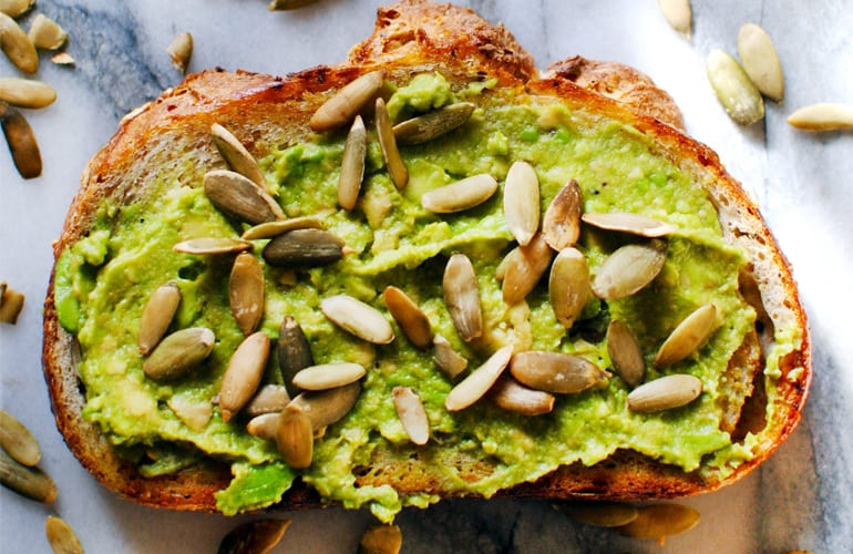 Avocado Toast with Pumpkin Seeds