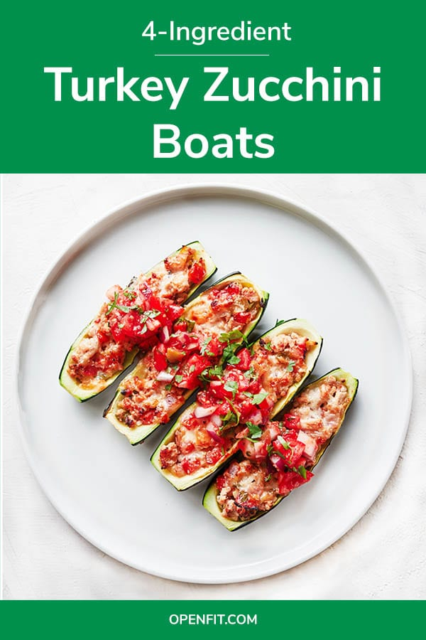 zucchini boats - pin image