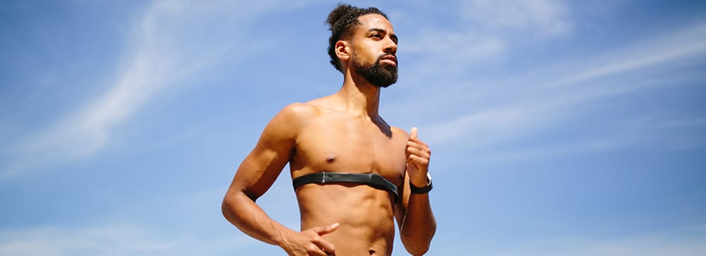 heart rate variability | man running chest strap