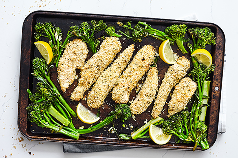 Chicken Tenders with Broccolini