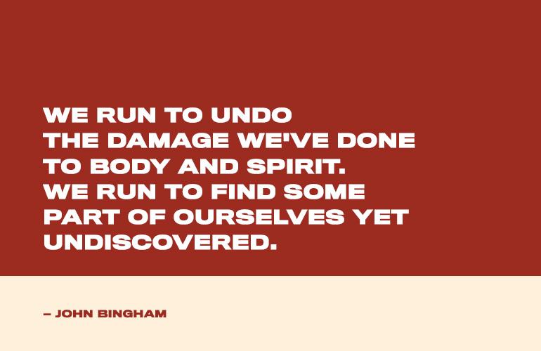 John Bingham Running Quote