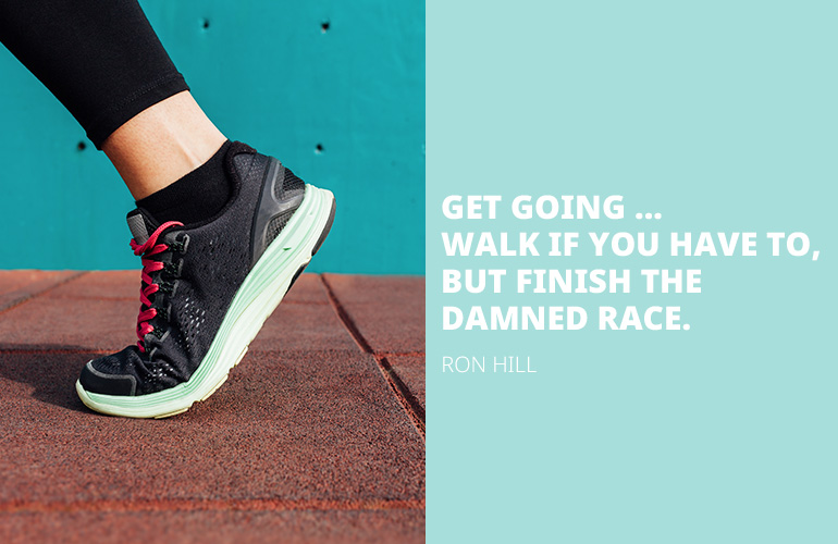 Ron Hill Running Quote