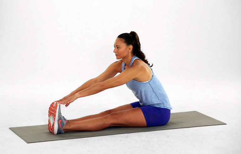 Seated Forward Fold | how to stretch hamstrings