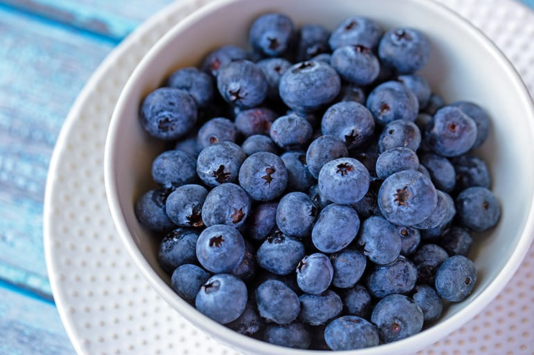 100 Calories of Blueberries