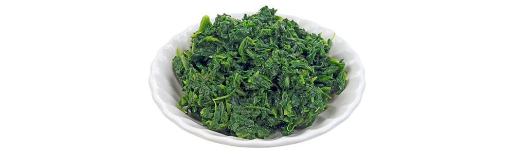 high protein vegetables   cooked spinach