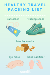 packing list -- how to stay healthy when you travel