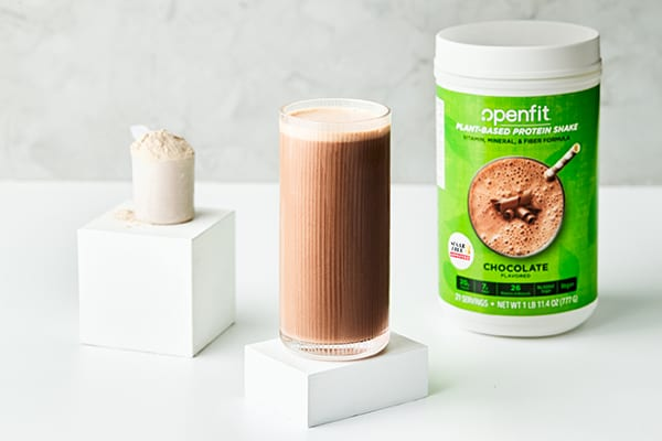 vegan protein sources - openfit plant-based protein shake