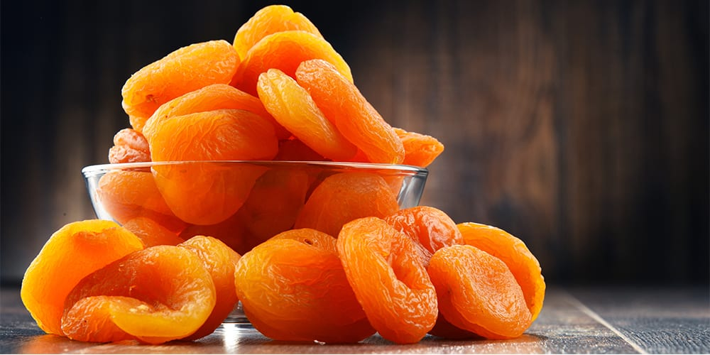 dried apricots | foods high in potassium