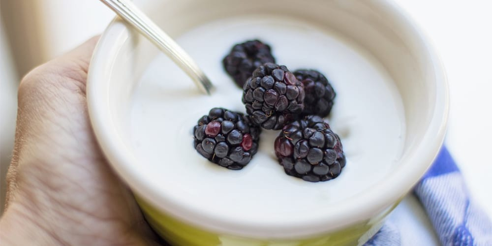 yogurt blackberries | foods high in potassium